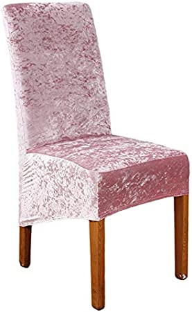 RDTRAVEL Crushed Velvet Fabric Stretchable XL Chair Covers for Dining Chairs Wedding Banquet Party Chair Protective Slipcover