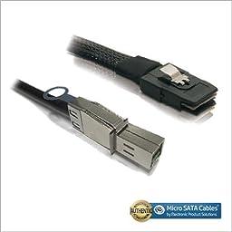 External Mini SAS HD SFF-8644 to Internal Mini SAS SFF-8087 Cable 1 Meter