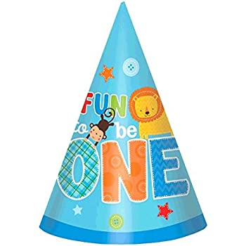 Amscan One Wild Boy 1st Birthday Party Cone Hats 6