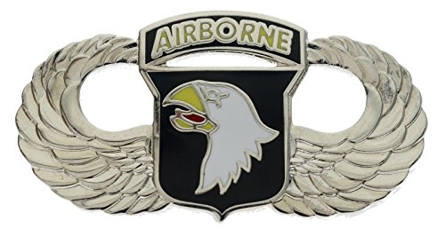 US Army 101st Airborne Eagle Wings Silver Tone 1 1/2 inch Hat Pin JCH16039D150