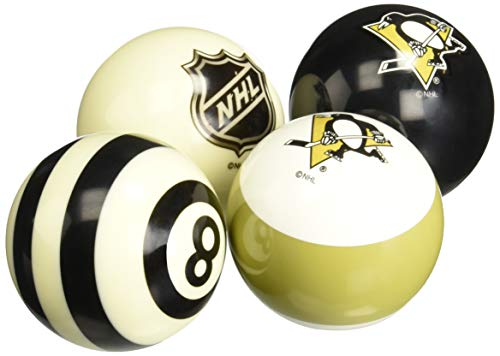 (Imperial Officially Licensed NHL Merchandise: Home vs. Away Billiard/Pool Balls, Complete 16 Ball Set, Pittsburgh Penguins)