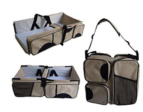 Cuna de viaje bolsa para pañales y cambiador cambio estación Pañales para bebé bolsa para pañales, diseño de cama bebé carrito cuna cuna guardería cama portátil negro rosso Negro