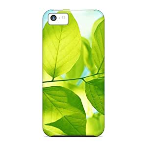 Excellent Iphone 5c Case Tpu Cover Back Skin Protector Green Leaves Hd