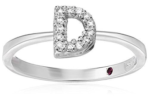 Roberto Coin Women's 001634AWLRXD Diamond Initial Ring, White, Size 7 ()