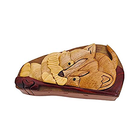 Amazon.com: Hecho a mano de madera Art gorro truco secreto ...