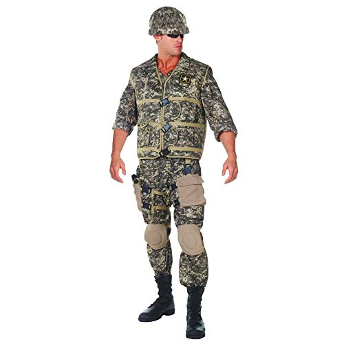 Underwraps Men's Army Ranger DLX Adult, Camo, One Size]()