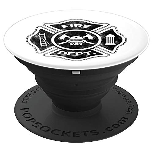 (Firefighter Shield Badge For Fireman Helmet Axe - PopSockets Grip and Stand for Phones and Tablets)