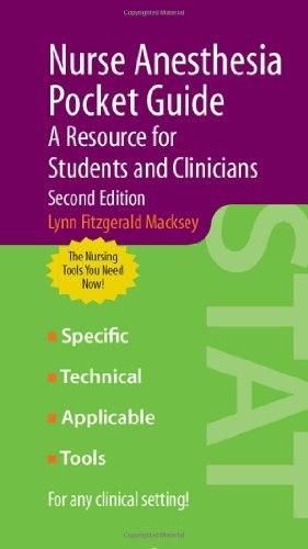 Nurse Anesthesia Pocket Guide: A Resource for Students and Clinicians Pdf