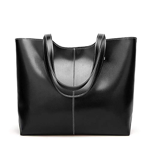 Zippy Vuitton Organizer Louis (Oil Wax Leather Women's Tote Large-capacity Women shoulder bag Classic Casual Tote bags,BLACK)