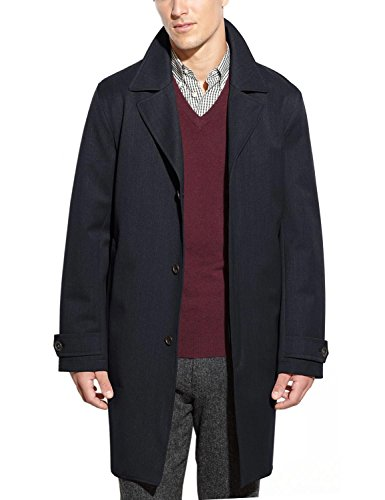 Michael Kors Men's Trench Coat, Navy, Large Tall (Michael Kors Trench Coat)