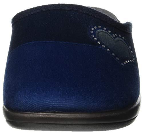 Con Jula Azul Casa Por 004 Para Talón Abierto Estar blu In Mujer Blu De Zapatillas a5wgn04q