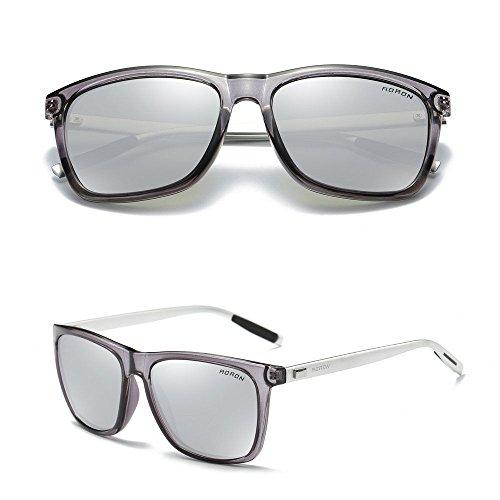 Aluminium Men's Polarized Driving Mirrored Sunglasses Silver - Brand Hong Sunglasses Kong
