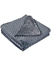 Home Beyond & HB design - Grey Duvet Cover for Weighted Blankets (60 x 80-Inch) - Ultra Soft Minky Dot Removable Weighted Blanket Cover with Zipper Conner Ties - Machine Washable (Duvet Cover ONLY)