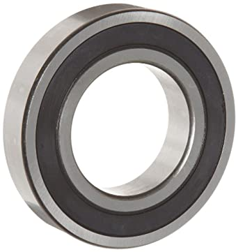 WJB 6200-2RS Deep Groove Ball Bearing, Double Sealed, Metric, 10mm ID, 30mm OD, 9mm Width, 1150lbf Dynamic Load Capacity, 540lbf Static Load Capacity