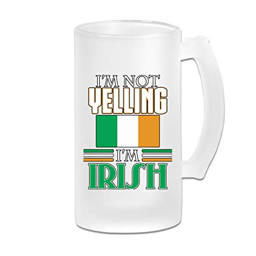 I'm Not Yelling, I'm Irish-1 Beer Mug Frosted Glass Stein Beer Cup For Party Party Decorations Birthday Present - Im Irish Stein