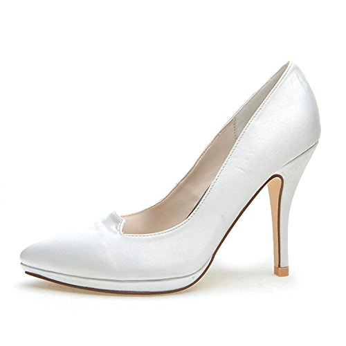 Tacchi Primavera Indicato yc L Delle Alti Evening White Autunno Stretch Seta Di amp; Donne Party Wedding YUq5XXTwx