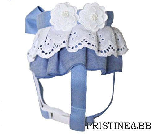 Handmade Blue Jean Flower Lace 324 (S) by PRISTINE&BB