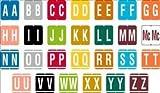 United Ad Label Starter Kit for Alpha File Folder Labels - VRE Compatible, 1-1/4'' x 1-5/16'', Assorted - 13000 Label Per Roll