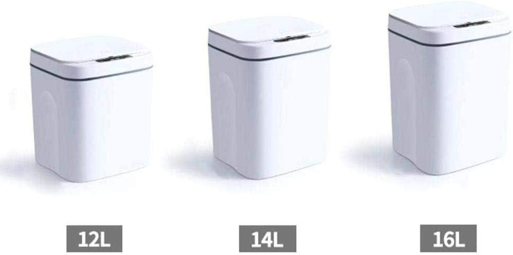 16L Cubo de Basura Cubo de Basura Basura de Cocina para Cocina y Oficina 14L Xicaimen Sensor autom/ático Cubo de Basura 12L