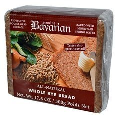 Genuine Bavarian Organic Whole Rye Bread, 17.6 Ounce -- 6 per case.