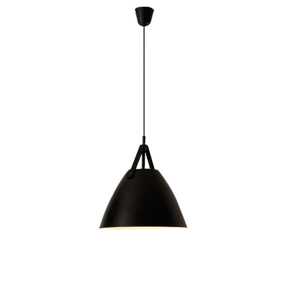 照明ランプ LED 北欧錬鉄シャンデリアクリエイティブベルトシャンデリア高さ調節可能なガラスシャンデリア用バーレストランカフェクラブ寝室リビングルーム LEDライト (色 : ブラック, サイズ : Cool white) B07PW763YP ブラック Cool white