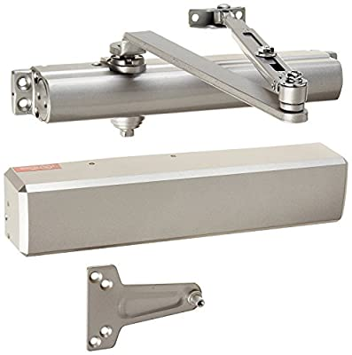 Stanley Commercial Hardware Commercial Non-Hold Open Tri-Packed Arm Heavy Duty Door Closer from the QDC200 Collection, Full Size Cover, Painted Aluminum Finish
