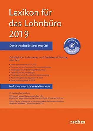 Lohnsteuertabelle 2019 pdf