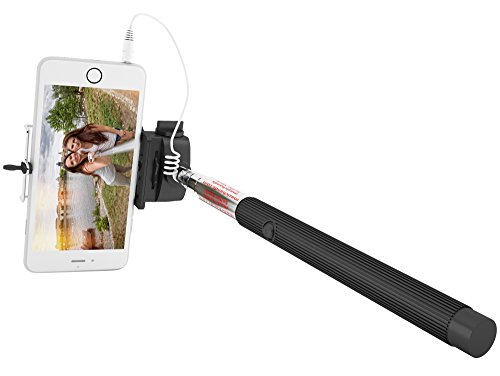 iphone accessories wired selfie stick for iphone 6 6 plus 5 5s 5c galaxy s. Black Bedroom Furniture Sets. Home Design Ideas