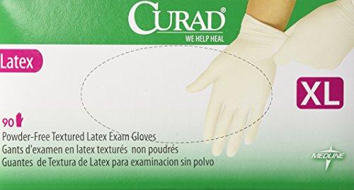 Curad Powder Free Latex Gloves X Large