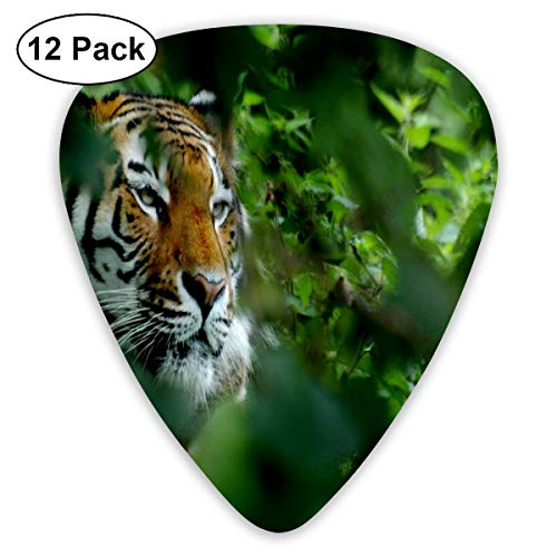 (Tiger Leaf Camouflage 351 Shape Classic Celluloid Guitar Pick For Electric Acoustic Mandolin Bass (12 Count))