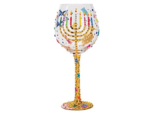Lolita Hanukkah Super Bling Wine Glass