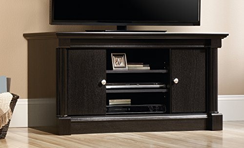 Sauder Bleeker Street TV Stand, For TV s up to 50 , Obsidian Oak finish