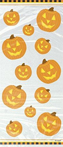 Pumpkin Glow Halloween Cellophane Bags, 20ct ()