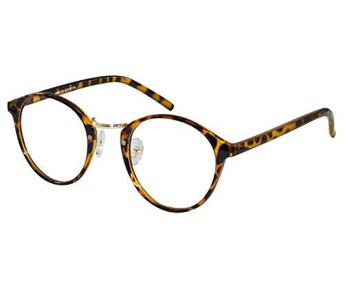 EyeBuyExpress Eye Glasses Women Men Animal Print Funky Old School Round Lenses Full - Glasses School Old Frames