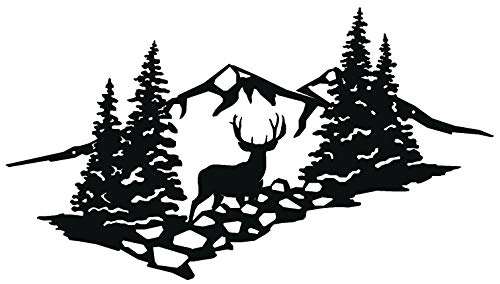 Big Game Steel High Country Muley Scene Metal Wall Art Sign for Home Cabin Decor Laser Cut