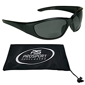 Polarized Bifocal Sunglasses 2.00 with Premium 1.1mm TAC Polarized Lenses and Sports Wrap Frame. Free Microfiber Cleaning Case Included. Overdrive