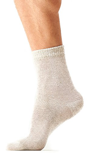 Organic Eco Hemp Walking Socks – Wide Range of Cool Moisture Wicking Dress Socks - White (Set of 3 Pair) Size Large (9-12)