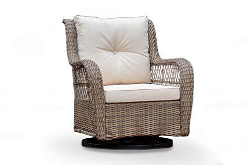 Tortuga Outdoor Rio Vista Individual Patio Wicker Swivel Glider Chair