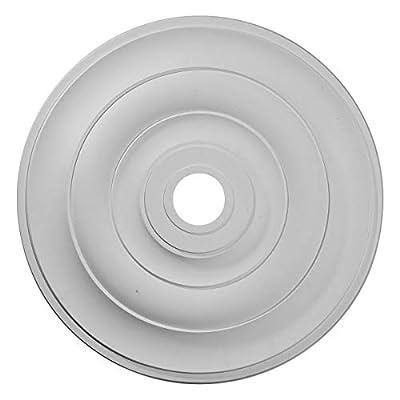 """Ekena Millwork CM26JEACS 26-1/2"""" x 3-5/8"""" x 1-1/2"""" Jefferson Ceiling Medallion, Antique Copper"""