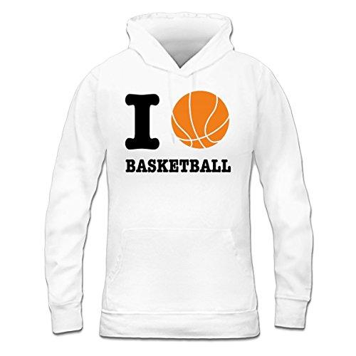 Sudadera con capucha de mujer Basketball Love by Shirtcity Blanco