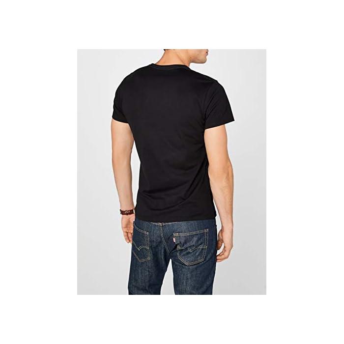 Camiseta básica para hombre Logo estampado en el pecho 100% Algodón