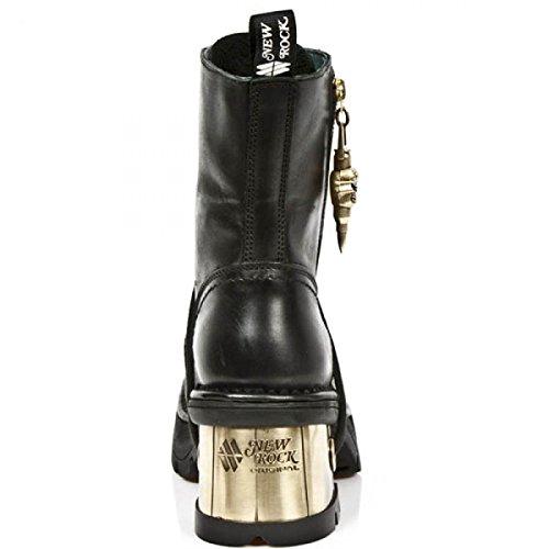Nuovi Stivali Di Roccia M.1047-c2 Gotico Hardrock Punk Damen Stiefel Schwarz
