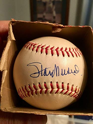 1958 Warren Giles Autographed Signed Stan Musial Autograph Red Stitch Ball Memorabilia JSA Certified ()