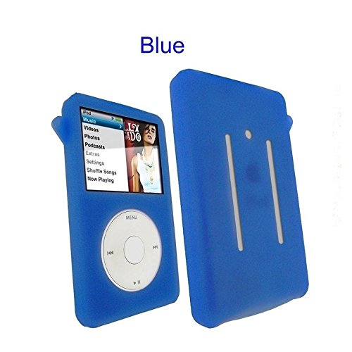 Blue Silicone Skin Case for Apple iPod Classic 80gb 120gb 160gb Cover (Blue Ipod Classic 160 Gb)