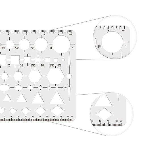 biging 1 Stück Zeichnen Vorlage Schablone Kreis quadratisch Sechseck ...