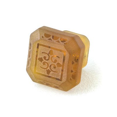 UPC 795924000020, Etched Glass Novelty Knob Color: Amber
