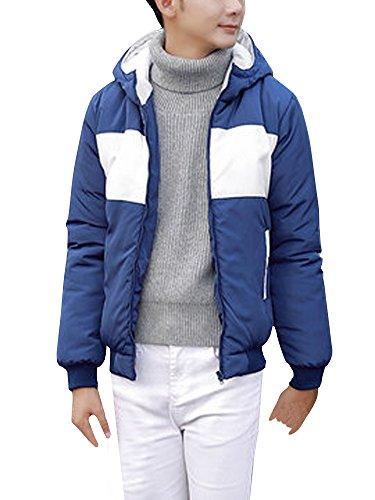 (ネルロッソ) NERLosso ダウンジャケット メンズ バイカラー フード付き 防寒 軽量 ショート丈 アウトドア バイク ゴルフ 登山 ジャンパー ブルゾン 大きいサイズ 正規品 cml24104