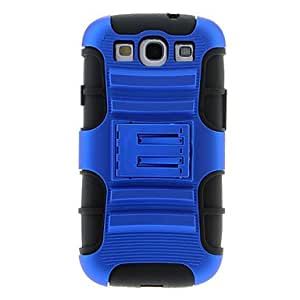 Dynamic Design Dismountable Multilayer Protective Case for Samsung Galaxy S3 I9300 with Screen Protector(Assorted Colors) --- COLOR:Blue