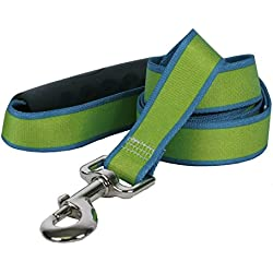 """Yellow Dog Design Sterling Stripes Spring Green Teal Dog Leash with Comfort Grip Handle-Large-1"""" 5' x 60"""""""