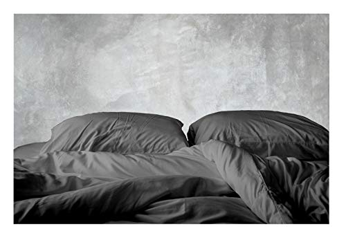 Tissaj 500-Thread-Count Organic Cotton Duvet Cover - 500TC Queen & Full Size Gray Color - for Bedding - 100% GOTS Certified Extra Long Staple, Soft Sateen Weave Finish - Luxury Collection